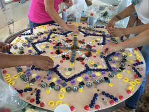 Mandala by women who are survivors of complex trauma