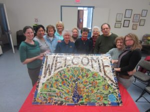 Welcome sign for East Somerville senior center