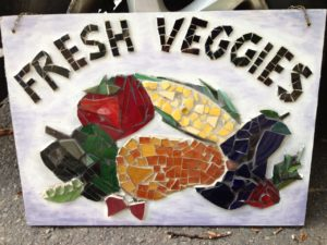 Fresh Fruits and Veggies sign