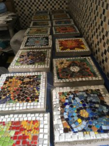 Flower pavers for the Argenziano School garden
